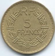 France - 1945 C - 5 Francs - Castelsarassin Mint - KM888a.3 - France