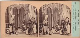 PHOTO STEREO 19 Em DUMANET AU SERAIL DUMANET PREFERRE BAIN TURC  N° 8 Humour épisode De La Guerre D' Alger - Stereoscopic