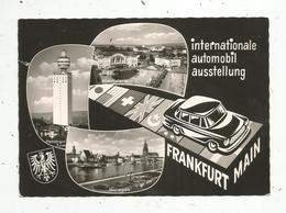 Cp , Allemagne ,  Automobile, FRANKFURT MAIN , Internationale Automobil Ausstellung, Multi Vues,  Vierge ,ed. Nagel - Frankfurt A. Main