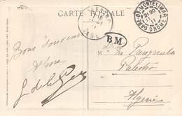PIE.LOT CH-19-4999 :  BEAU CACHET MANUEL GARE DE MONTELIMAR. DROME AVEC CACHET B M  BOITE MOBILE ? - Marcophilie (Lettres)