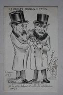 Carte Satirique - De Molynk - Crayon N °29 -  ( Le Gounty  Coucil à Paris ) - Satirical