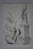 Carte Satirique - De Molynk - Crayon N ° 35 -  ( La Religion  ) - Satirical