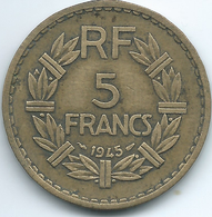France - 1945 - 5 Francs - Struck For Colonial Use In Africa - KM888a.2 - France