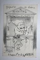 Carte Satirique - De Molynk - Crayon N ° 15   -  ( Le Reichstag ) - Satirical