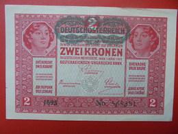 AUTRICHE 2 KRONEN 1919/1917 CIRCULER BONNE QUALITE (B.1) - Austria