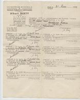 Maroc Protectorat,,Midelt,Fès, 1949, Entreprise Suety, Travaux Publics, Employé Montesino, Mécanicien, Salaire - France