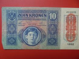 AUTRICHE 10 KRONEN 1919/1915 CIRCULER BONNE QUALITE (B.1) - Austria