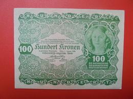 AUTRICHE 100 KRONEN 1922 PEU CIRCULER/NEUF (B.1) - Autriche