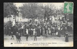LAURIERE: INAUGURATION DU MONUMENT DU GENERAL THOUMAS - Lauriere