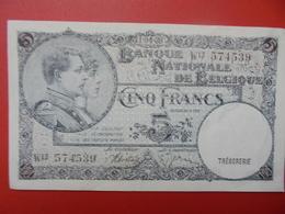 BELGIQUE 5 FRANCS 1938 PEU CIRCULER-TRES BONNE QUALITE (B.1) - [ 2] 1831-... : Royaume De Belgique