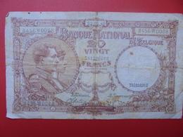BELGIQUE 20 FRANCS 1940 CIRCULER-DATE MOINS COURANTE (B.1) - [ 2] 1831-... : Royaume De Belgique