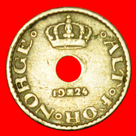 + ROSES (1924-1951): NORWAY ★ 10 ORE 1924 Haakon VII (1905-1957)! LOW START ★ NO RESERVE! - Norway