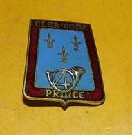 4° Chasseurs, Clermont Prince, émail, Guilloché Argenté, Boléro Gravé, FABRICANT DRAGO PARIS,HOMOLOGATION 2114, ETAT VOI - Armée De Terre
