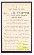 DP Louise M. Van Den Hende ° Aalst 1851 † Ieper 1934 X Louis Biebuyck - Images Religieuses