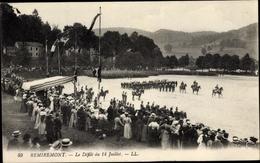Cp Remiremont Lothringen Vosges, Le Defilé Du 14 Juillet - France