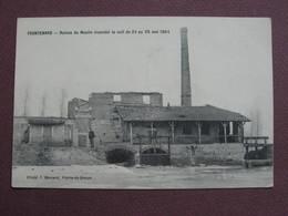 CPA 71 FRONTENARD Ruine Du Moulin Incendié Brulé La Nuit Du 24 Mai 1904 RARE PLAN Canton PIERRE DE BRESSE - Sonstige Gemeinden
