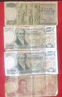 Billet. 6. Grèce. 4 Billets, 3 X 500 Et 1x 100 - Grecia