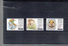 GUINEE EQUATORIALE 259/261** SUR LA COUPE DU MONDE EN ITALIE - Guinée Equatoriale
