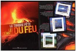 France 2011 -  Collector Le Timbre Fête Les Géants Du Feu La Piste Des Volcans Du Monde 10 Timbres Adh - Polinesia Francesa