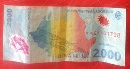 Billet. 7. Roumanie. 2000 Lei. Billet De L'éclipse - Romania