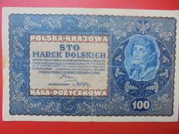 POLOGNE 100 MAREK 1919 CIRCULER-BONNE QUALITE (B.1) - Poland