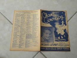 Chant Cow Boy (Jacques Lesprit)-(Paroles Maurice Vandair)-(Musique M. Vandir) Partition - Liederbücher