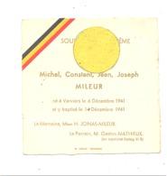 Faire-part De Baptême De Gaston Mileur VERVIERS 1941 - Parrain Prisonnier Stalag XI B (van) - Naissance & Baptême