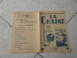 La Chaine (Damia)-(Paroles Émile Ronn)-(Musique Léo Daniderff) Partition 1911 - Liederbücher