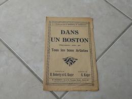 Dans Un Boston (Chansonnette)-(Paroles G. Koger & H. Roberty)-(Musique Géo Koger) Partition - Liederbücher