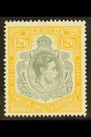 "1947 12s.6d Grey And Yellow ""lemon"", SG 120d, Very Fine Mint. For More Images, Please Visit Http://www.sandafayre.com/it - Bermuda"