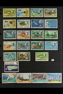 1968-1976 COMPLETE NEVER HINGED MINT COLLECTION On Stock Pages, ALL DIFFERENT, Complete SG 16/89, Includes 1968-70 Marin - British Indian Ocean Territory (BIOT)