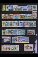 1969-76 COMPLETE NEVER HINGED MINT COLLECTION. Includes 1968 Overprints On Seychelles Set, 1968-70 Marine Life Complete  - British Indian Ocean Territory (BIOT)
