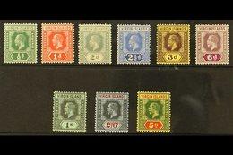 1913-19 Complete Set, SG 69/77, Fine Mint. (9 Stamps) For More Images, Please Visit Http://www.sandafayre.com/itemdetail - British Virgin Islands