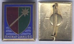 Insigne De La 1ére Armée - Rhin Et Danube - Armée De Terre