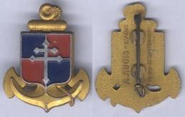 Insigne De La 9e Division D'Infanterie Coloniale ( En Aluminium Peint ) - Armée De Terre