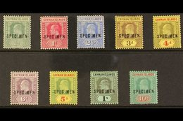 """1907-09 KEVII Overprinted """"SPECIMEN"""" Complete Set, SG 25s/30s And 32s/34s, Fine Mint. (9 Stamps) For More Images, Please - Cayman Islands"""