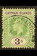 1912-20 3s Green & Violet, SG 50, Fine Cds Used For More Images, Please Visit Http://www.sandafayre.com/itemdetails.aspx - Cayman Islands