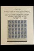 1899 ONE HALF PENNY SURCHARGE Complete Bottom Right Half Pane Of 30 Stamps (margins To Left And Base) Showing The Recurr - Cook Islands