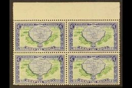 1949-61 3d Green & Ultramarine Pictorial With WATERMARK INVERTED Variety, SG 153aw, Very Fine Mint Lower Marginal BLOCK  - Cook Islands