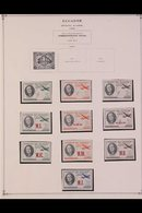 """1941-1975 ALL DIFFERENT COLLECTION. A Chiefly, ALL DIFFERENT Mint & Used Collection, Presented On """"Scott"""" Printed Page - Ecuador"""