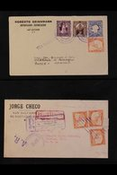 1925-75 COMMERCIAL COVERS GROUP An Interesting Assembly With A 1925 6c Env To Germany Uprated With 1c, 3c, And 10c, And  - El Salvador