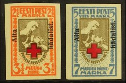 "1923 ""Aita Hadalist."" Charity Overprints Complete Imperf Set (Michel 46/47 B, SG 49A/50A), Very Fine Mint, Fresh. (2 Sta - Estonia"