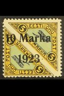 1923 10m On 5m + 5m Air Pair, Yellow, Blue & Black, Perf 11½, Mi 43A, SG 46a, Very Fine Mint For More Images, Please Vis - Estonia