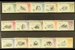 1960-66 Bird Definitive Set, SG 193/207, Very Fine Lightly Hinged Mint (15 Stamps) For More Images, Please Visit Http:// - Falkland Islands