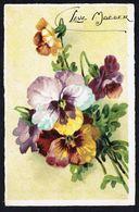 """Fleurs - Pensées - """" Leve Moeder """" - Circulé Sous Enveloppe - Circulated Under Cover - Gelaufen U. Umschlag. - Flowers, Plants & Trees"""