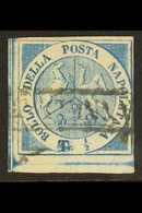 """NAPLES 1860 ½t Blue """"Trinacria"""", Sass 15, A Very Fine Used With Clear To Huge Margins All Round, Crisp Engraving And Ful - Italy"""
