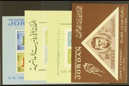 1963-1967 MINI-SHEETS. Superb Never Hinged Mint All Different Miniature Sheets, Includes 1963 UN, 1964 Kennedy & Olympic - Jordan