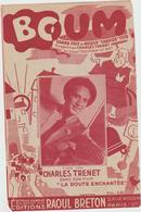 (TRE)CHARLES TRENET ,  BOUM - Partitions Musicales Anciennes