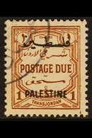 OCCUPATION OF PALESTINE POSTAGE DUE. 1948 1m Red-brown, SG PD17, Very Fine Used For More Images, Please Visit Http://www - Jordan