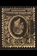1921 KGV 1c Black, Wmk Mult Script CA INVERTED, SG 65w, Fine Used. For More Images, Please Visit Http://www.sandafayre.c - Publishers